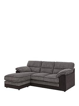 Save £80 at Very on Delta Fabric 3 Seater Left Hand Corner Chaise Sofa