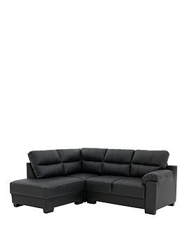 Save £75 at Very on Saskia Leather/Real Leather Left Hand Compact Corner Chaise Sofa