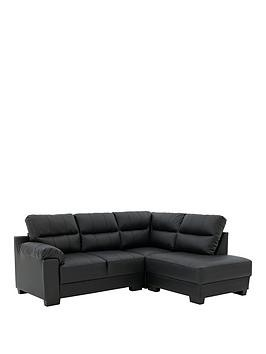 Save £75 at Very on Saskia Leather/Faux Leather Right Hand Compact Corner Chaise Sofa