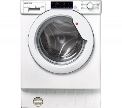 Save £51 at Currys on HOOVER HBWM 84TAHC-80 Integrated 8 kg 1400 Spin Washing Machine - White, White