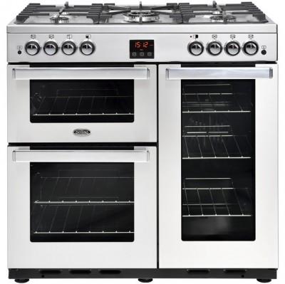 Save £118 at AO on Belling Cookcentre90GProf 90cm Gas Range Cooker with Electric Fan Oven - Stainless Steel - B/A Rated