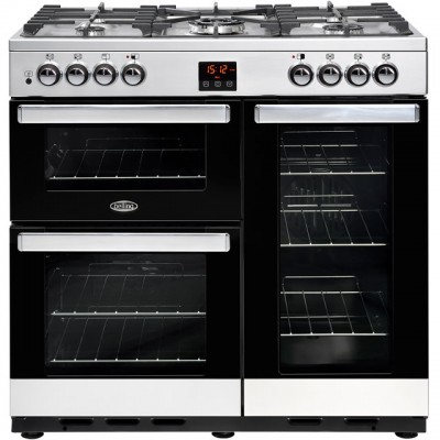 Save £130 at AO on Belling Cookcentre90G 90cm Gas Range Cooker with Electric Fan Oven - Stainless Steel - B/A Rated