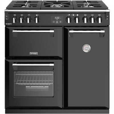 Save £200 at AO on Stoves Richmond Deluxe S900G 90cm Gas Range Cooker - Black - A/A Rated