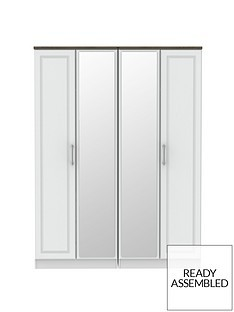 Save £80 at Very on SWIFT Regent Ready Assembled 4 Door Mirrored Wardrobe