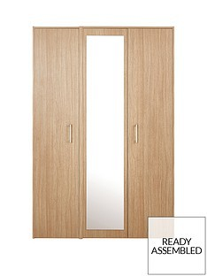 Save £50 at Very on Barlow Part Assembled 3 Door Mirrored Wardrobe