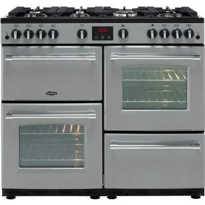 Save £123 at AO on Belling Farmhouse100G 100cm Gas Range Cooker - Silver - A/A Rated