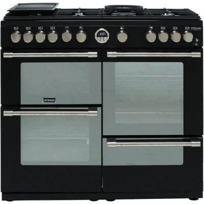 Save £321 at AO on Stoves Sterling Deluxe S1000G 100cm Gas Range Cooker with Electric Grill - Black - A+/A/A Rated