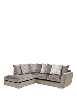Save £250 at Very on Aspire Fabric Left Hand Scatter Back Corner Chaise Sofa