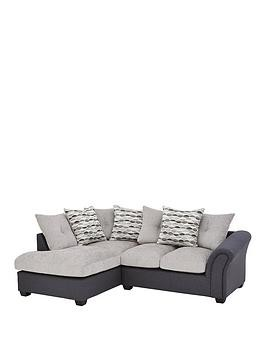 Save £250 at Very on Quartz Fabric Compact Left Hand Scatter Back Corner Chaise Sofa