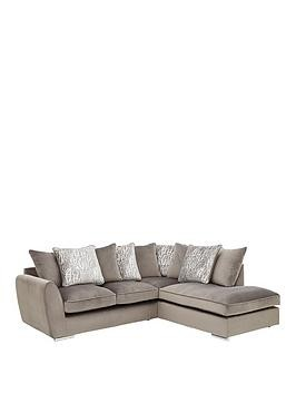 Save £250 at Very on Aspire Fabric Right Hand Scatter Back Corner Chaise Sofa
