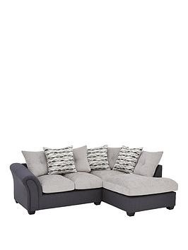 Save £250 at Very on Quartz Fabric Compact Right Hand Scatter Back Corner Chaise Sofa