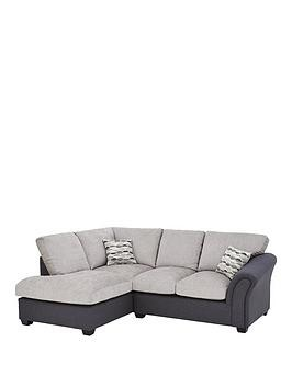 Save £250 at Very on Quartz Fabric Compact Left Hand Standard Back Corner Chaise Sofa