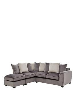 Save £850 at Very on Odion Fabric Left Hand Corner Chaise Scatter Back Sofa With Footstool