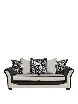 Save £200 at Very on Atmos Fabric 3 Seater Scatter Back Sofa