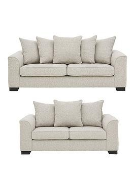 Save £400 at Very on Caspian Fabric 3 Seater + 2 Seater Scatter Back Sofas (Buy And Save!)