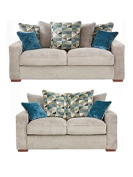Save £300 at Very on Miller Fabric 3 Seater + 2 Seater Sofa Set (Buy And Save!)