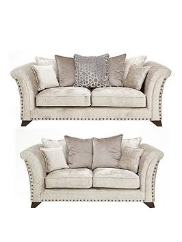 Save £500 at Very on Caprera Fabric 3 Seater + 2 Seater Scatter Back Sofa Set (Buy And Save!)