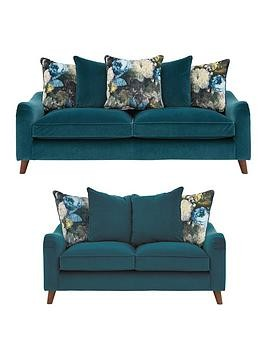 Save £400 at Very on Nova Fabric 3 Seater + 2 Seater Scatter Back Sofa Set (Buy And Save!)