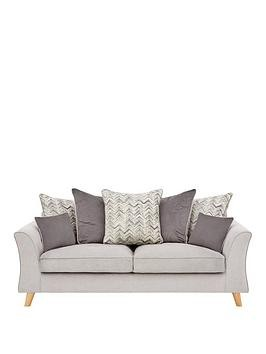 Save £100 at Very on Legato Fabric Scatter Back 3 Seater Sofa