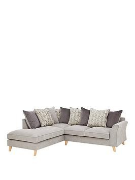 Save £300 at Very on Legato Left Hand Fabric Scatter Back Corner Chaise Sofa
