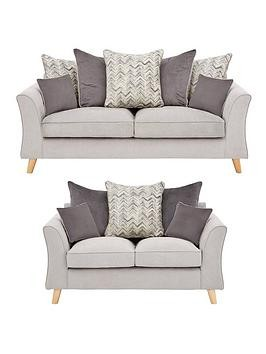 Save £200 at Very on Legato Fabric 3 Seater + 2 Seater Scatter Back Sofa Set (But And Save!)