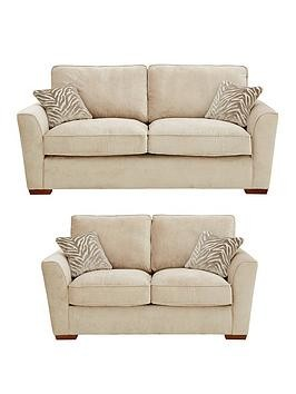Save £300 at Very on Kingston Fabric 3 Seater + 2 Seater Standard Back Sofa Set (Buy And Save!)