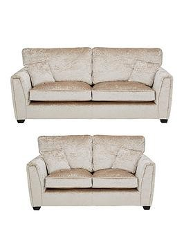 Save £900 at Very on Glitz Fabric Standard Back 3 + 2 Seater Sofa