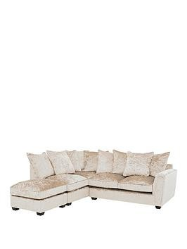 Save £800 at Very on Glitz Fabric Left Hand Corner Group Scatter Back Sofa - Champagne