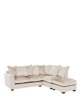 Save £800 at Very on Glitz Fabric Right Hand Corner Group Scatter Back Sofa - Champagne