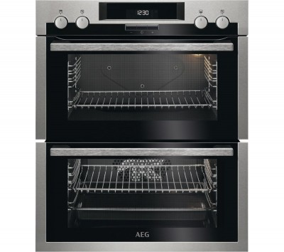 Save £90 at Currys on AEG DUE431110M Electric Double Oven - Stainless Steel & Black, Stainless Steel