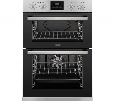Save £70 at Currys on ZANUSSI ZOD35660XK Electric Double Oven - Black & Stainless Steel, Stainless Steel