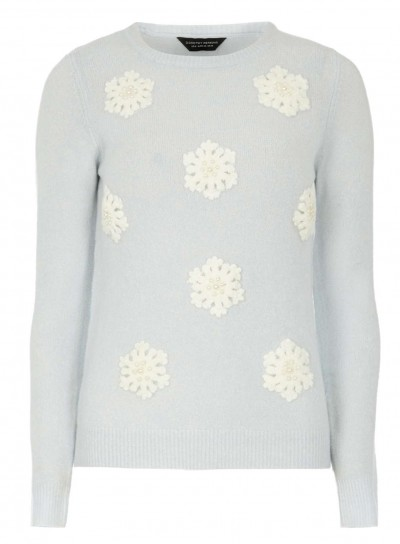 Light blue snowflake jumper