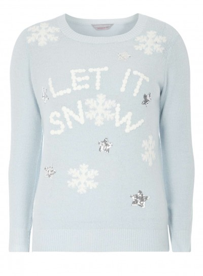 Petite 'let it snow' jumper