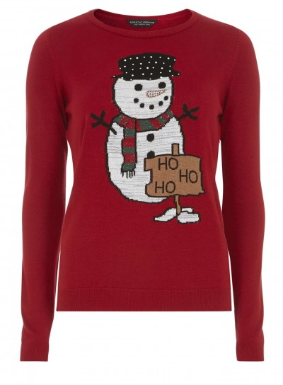 Red Snowman Jumper